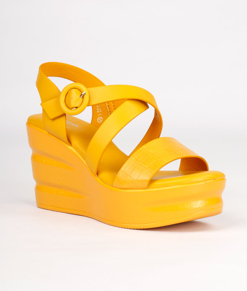 Women Yellow Casual Sandals