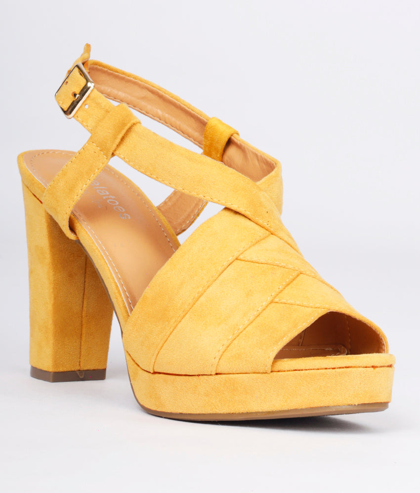 Women Yellow Casual Peep Toes