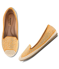 Women Yellow Urban Ballerinas
