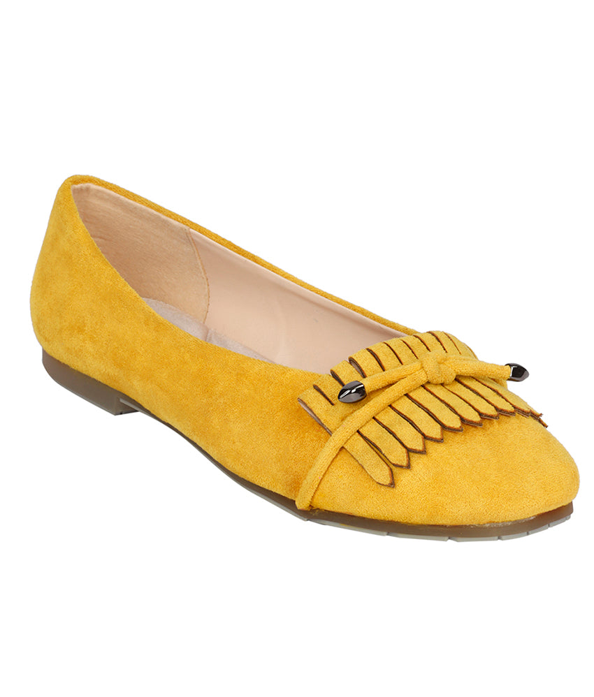 Women Yellow Casual Ballerinas