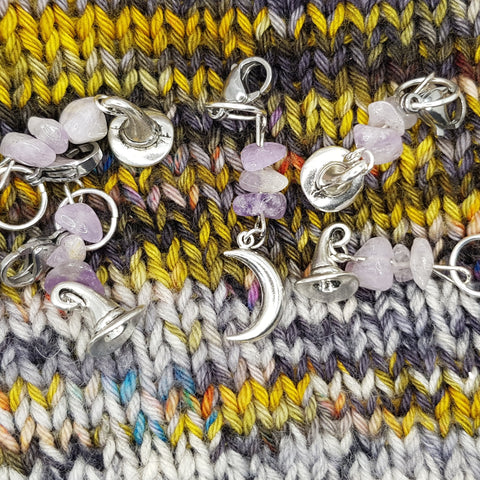 LILAC MOON COVEN | Stitch markers to gather with