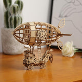 Modern Laser Cut: Airship Wooden Puzzle