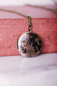 Moon Locket Chain Necklace Jewelry