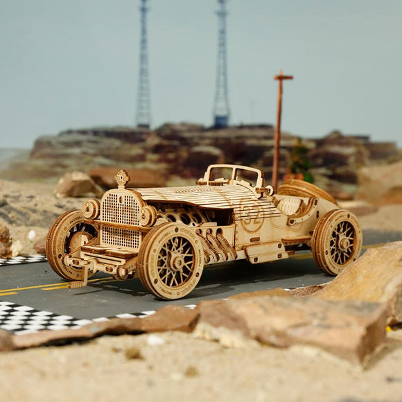 1:16 Scale Model Grand Prix Car Wooden Puzzle