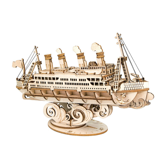 Wooden Laser Cut: Cruise Ship Puzzle