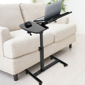 Over-Bed Laptop Table Rolling Tilt with Mobile Side Tray with Mousepad