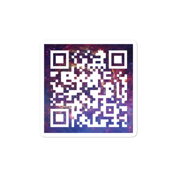 United Space Travel Galaxy QR Code Sticker