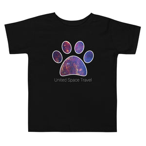 United Space Travel Galaxy Paw Toddler Short Sleeve Tee
