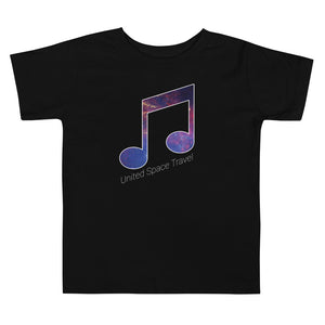 United Space Travel Galaxy Beamed Eighth Note Toddler Short Sleeve Tee