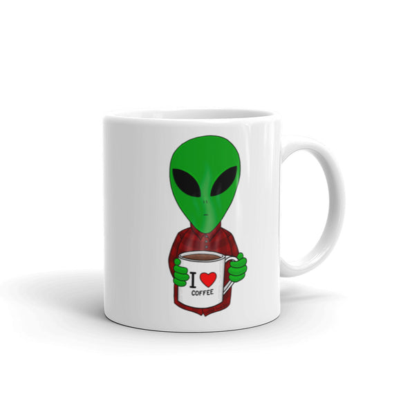 United Space Travel Alien I love coffee Mug