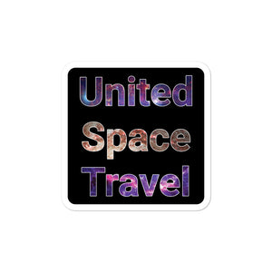 United Space Travel Galaxy Sticker