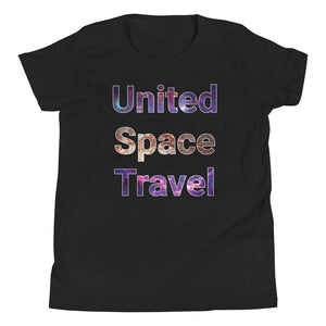United Space Travel Galaxy Youth Short Sleeve T-Shirt
