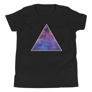 United Space Travel Triangle Galaxy Youth Short Sleeve T-Shirt