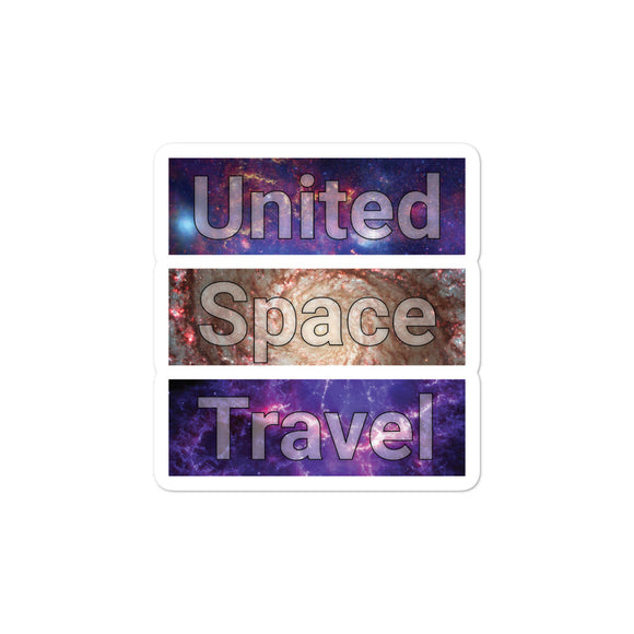 United Space Travel Galaxy Rectangles Sticker