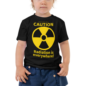"United Space Travel ""Caution Radiation is everywhere!"" Toddler Short Sleeve Tee"
