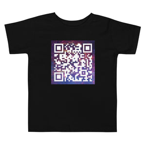 United Space Travel Galaxy QR Code Toddler Short Sleeve Tee