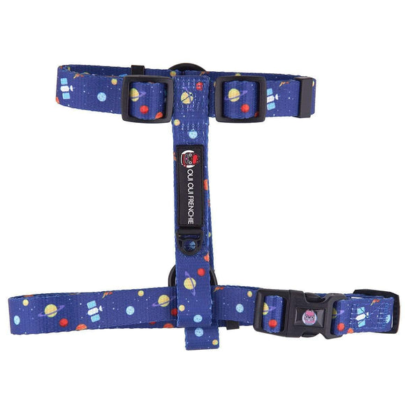 Oui Oui Frenchie Strap Harness - Space