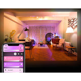 Philips Hue White & Color Ambiance A19 LED Smart Bulb Starter Kit  Compatible with Alexa