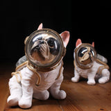 Modern Astronaut Sculpture Resin Space Dog Statue Abstract Figurine Home Decoration Accessories Craft Decor