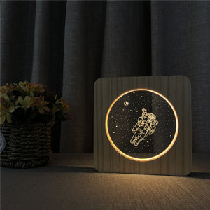 Space Astronaut USB LED Night Lamp Table Light Switch Control Lamp Decoration
