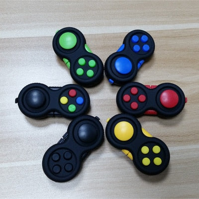 Game Handle Toys Plastic Reliever Stress Hand Fidget Pad Key Decompression Gift 8 color