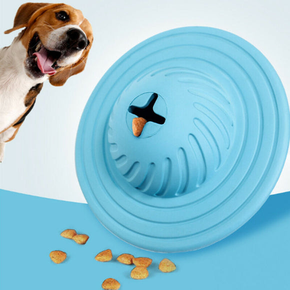 Dog Food Toy Ufo Dispenser Interactive Tumbler Iq Puzzle Treat Ball Slow Feeder