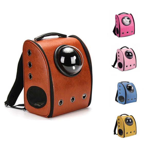 Pet Capsule Bag Travel Dog Cat Carrier Pet Outdoor Portable Package Bag Space Cabin Breathable Backpack