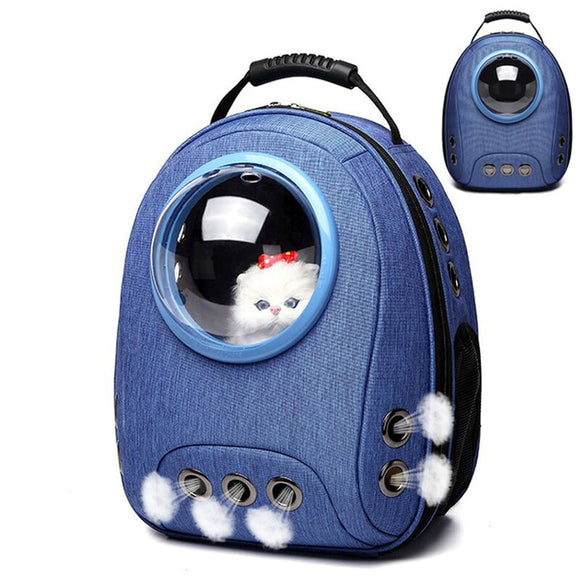 Pet Backpack Travel Carrier Bag Outdoor Hiking Space Capsule Portable Transport Box Breathable For Cats & Small Dogs