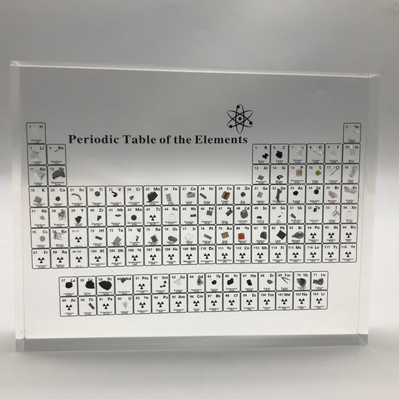 Periodic Table of Elements Display With Real Elements Teaching