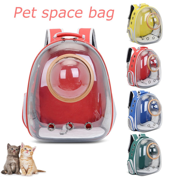 Space Capsule Pet Dog Cat Backpack Carrier Double Shoulder Bag Travel Carrying