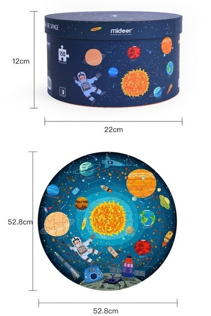 150pcs Puzzle Day and Night for Kids Learn Time Space Puzzle Solar System  Early Learning Toy  present 4- 5 years old