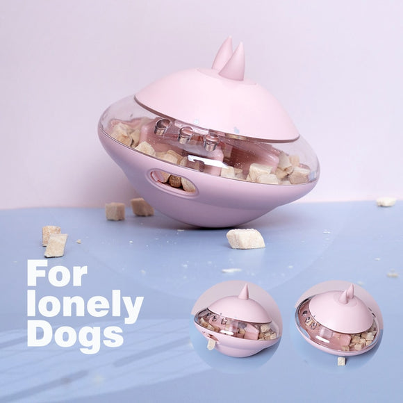 Pet Dog Toy Food Dispenser UFO Ball Tumbler Slow Feeder Puppy Puzzle Interactive Bite resistant Toy for Dog Training Pet Product