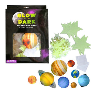 Luminous Moon Earth Space Planets Star Wall Stickers Fluorescent Glow In The Dark