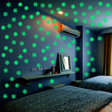 50pcs Snowflake Luminous Wall Sticker Fluorescent Glow In The Dark Wall Decal