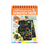 Hot 4 Colors Scratch Art Paper Wonderful Colorful Black Cardboard Creative Draw Sketch Notes