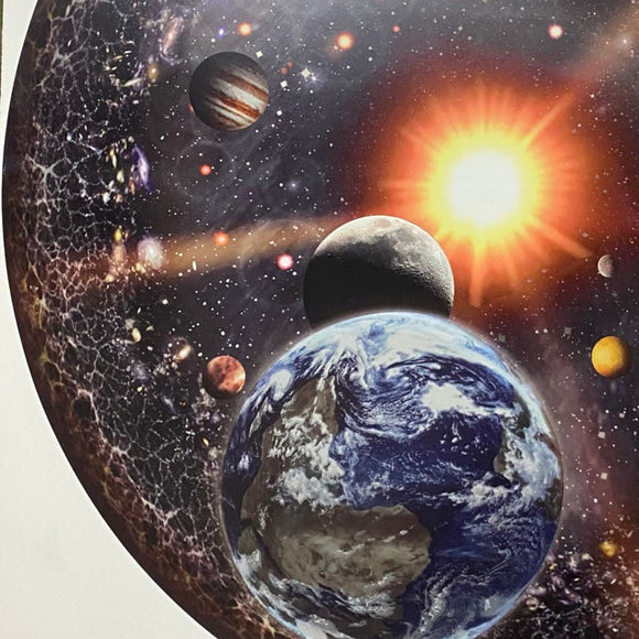 1000 Pieces Jigsaw Puzzle Circular Round Space Universe