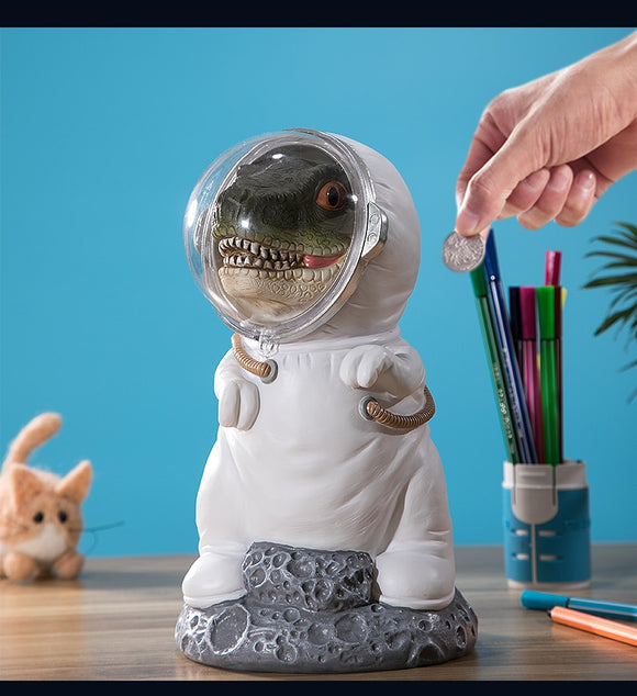 Cartoon Dinosaur Astronaut Piggy Bank Large Capacity Money Boxes Decoration
