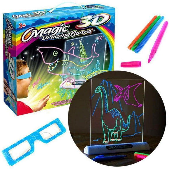Magic Color Art Coloring Cards Available On Both Sides Drawing Pen 3D Glasses