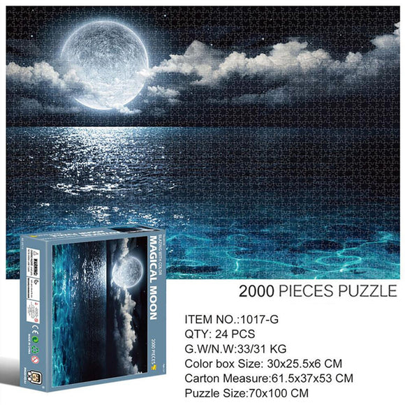 2000 Piece Large Landscape Pattern Jigsaw Puzzle Game Toy