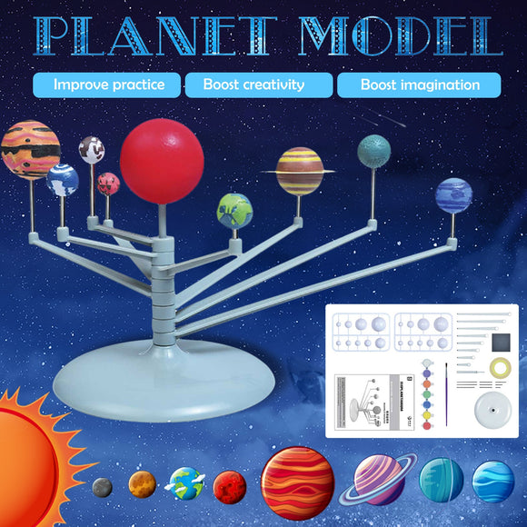 Education Planetarium Solar System Model Nine Planets Astronomy Science Project Puzzle Games Toys