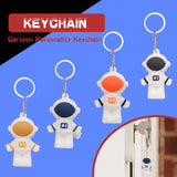 Unique Cartoon Astronaut Keychain Holder Keyring