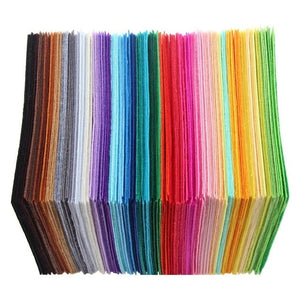 40pcs Polyester Cloth 10x10cm Colorful Felt Fabric Arts Crafts
