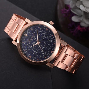 Starry Sky Quartz Watch Galaxy Dial Star Space Pattern Analog Wrist