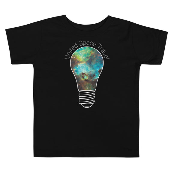 United Space Travel Galaxy Light Bulb Toddler Short Sleeve Tee