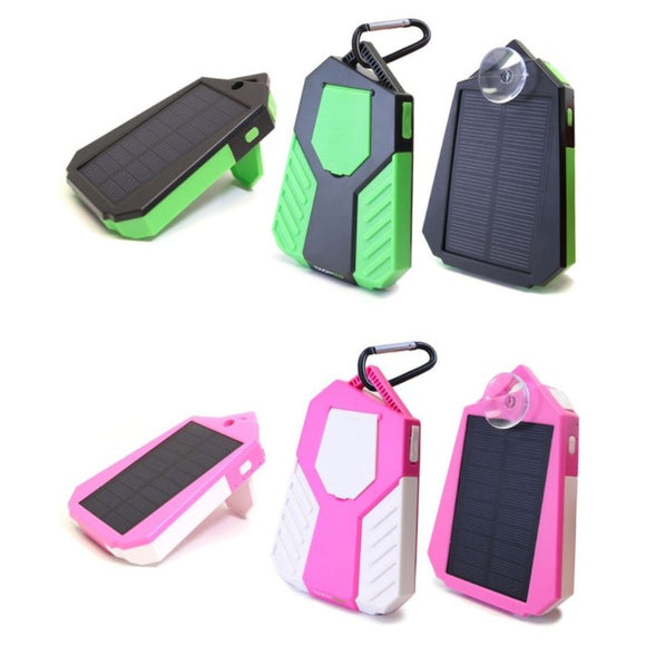 Solar USB Power Bank Dual Phone Charger