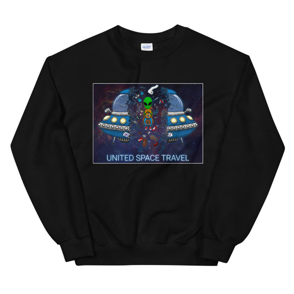 United Space Travel Split UFO Unisex Sweatshirt