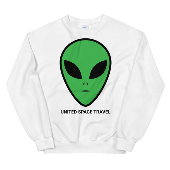 United Space Travel Alien Face Unisex Sweatshirt