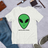 United Space Travel Alien Face Short-Sleeve Unisex T-Shirt