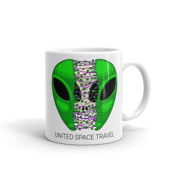 United Space Travel Split Alien Face Mug