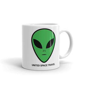 United Space Travel Alien Face Mug